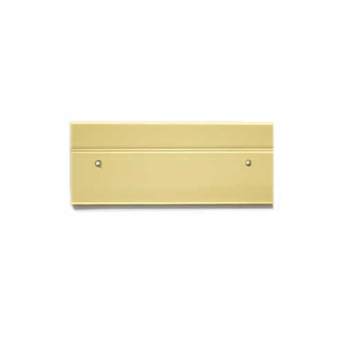 Double office nameplate holders in gold (115-8-Y) - Nap-Nameplates.com