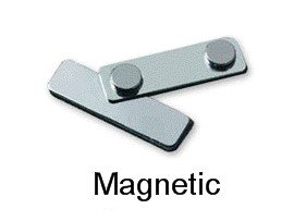 3x1 5 custom magnetic name badges durable plastic color printed