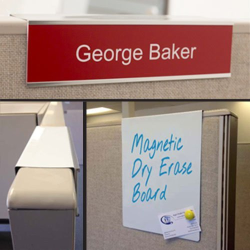 Cubicle Name Plate Holders, Signs, Whiteboards and More - NapNameplates.com