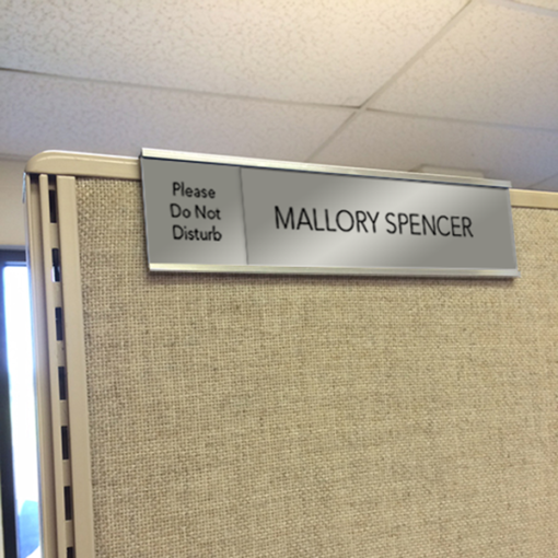cubicle slider nameplates