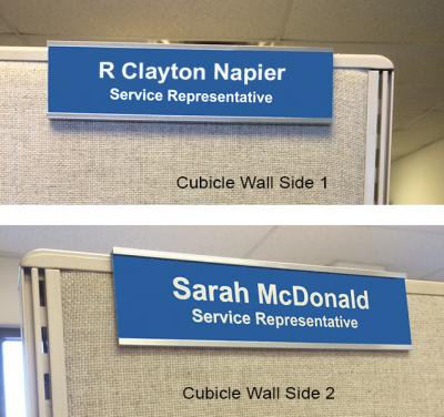 cubicle slider nameplates