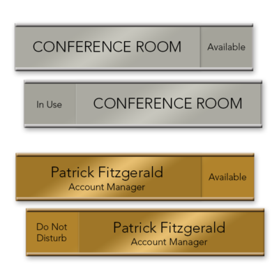Sliding Nameplates