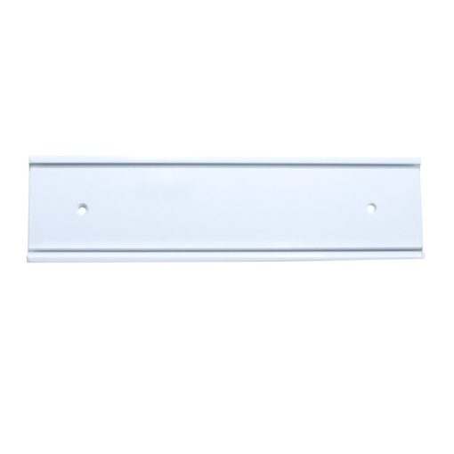 white nameplate holder