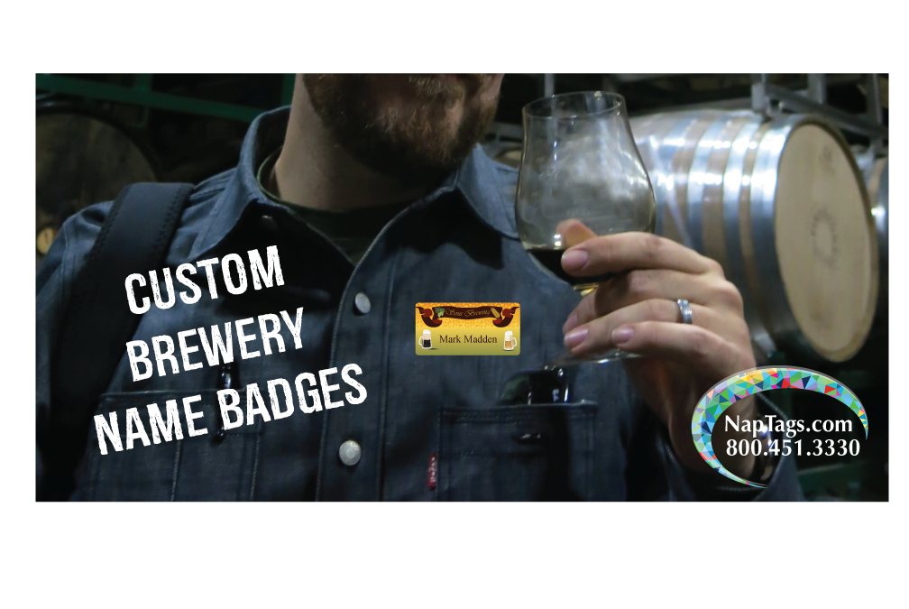 Custom Brewery Name Badges