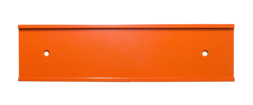 orange nameplate holder
