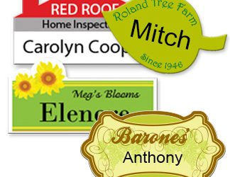 Custom Shape Name Tags