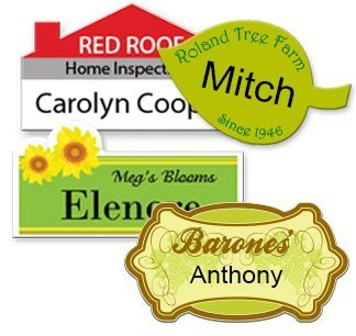 Custom Shape Name Badges & Tags - NapNameplates