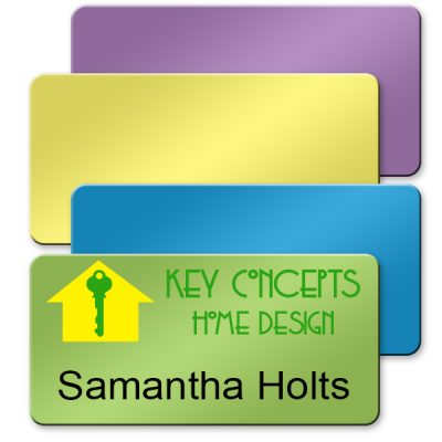 full color name badges