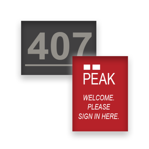 metal office signs