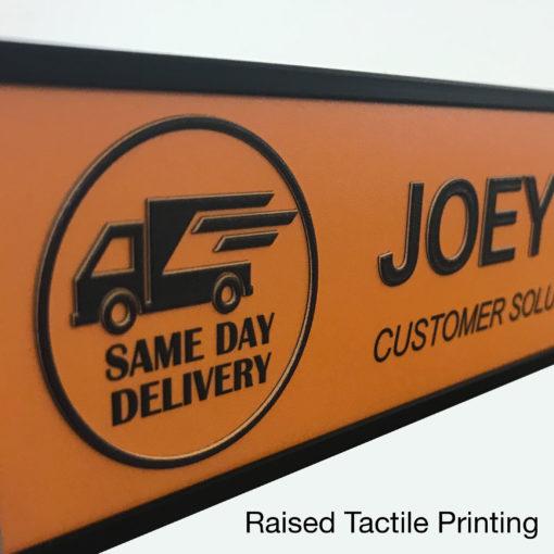 tactile printed nameplates