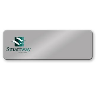 3x1 Logo Only Metal Name Badge from NapNameplates