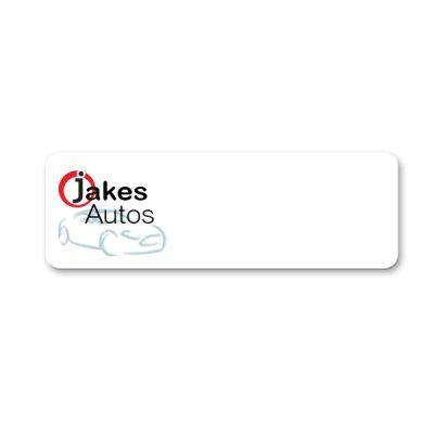 plastic name badge