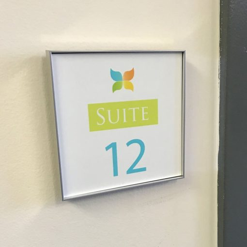 Office Sign with Frame 4x4