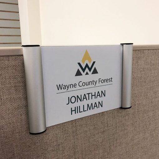 cubicle snap sign holder