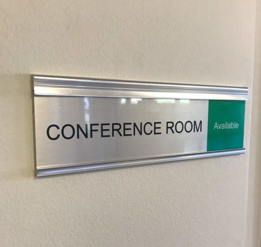 Stylish Modern Conference Room Sliding Signs - Nap Nameplates