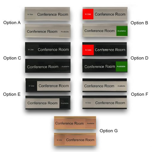 Slider Signs for Conference Rooms, Many Options to Choose From! - Nap Nameplates