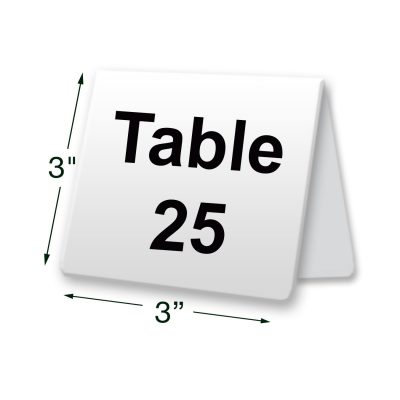 metal table tent sign