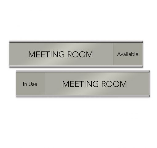 Meeting Room Slider Signs for Offices - NapNameplates.com