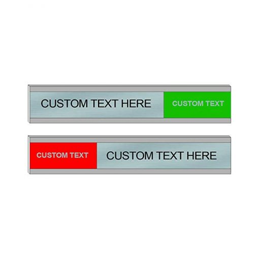 Custom Sliding Signs for Office Doors or Walls, 6x1 - NapNameplates.com