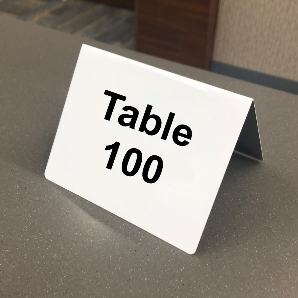 table tent sign