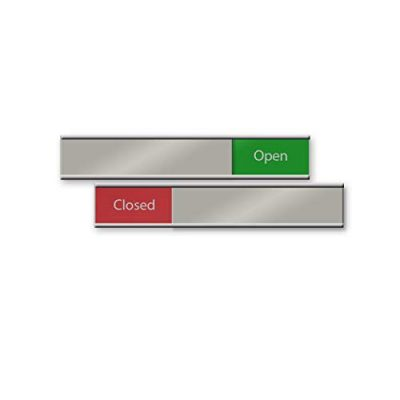 Open or Closed Sliding Signs for Office Doors or Walls 6x1 - NapNameplates.com