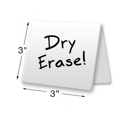 dry erase table tent