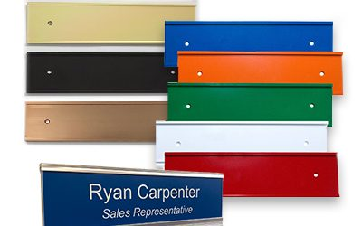 Metal Nameplate Holders for Offices