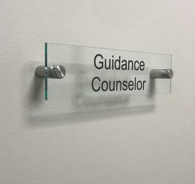 Clear Acrylic Name Plate for Guidance Counselor - Nap Nameplates
