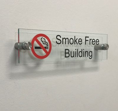 Unique Smoke Free Building Acrylic Signs for Offices - Nap Nameplates