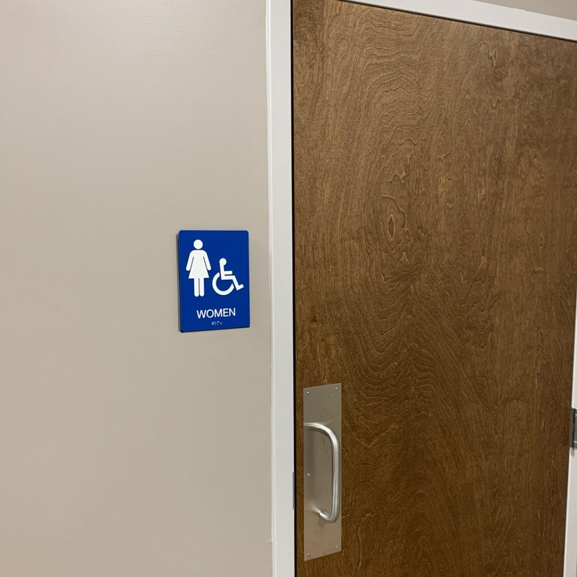 ADA Girls Restroom Sign with Braille - 22 Colors - 6 x 8 ...