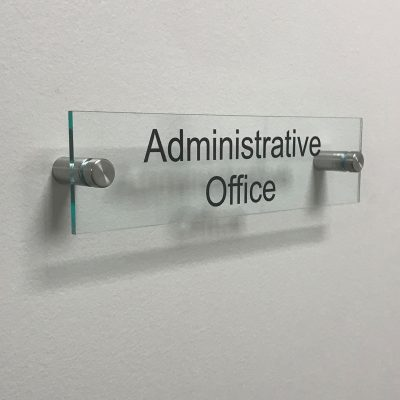 Administrative Office Acrylic Name Plates for Offices - Nap Nameplates