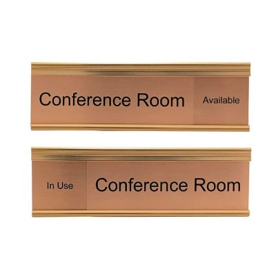 Copper Slider Signs for Conference Rooms - Nap Nameplates