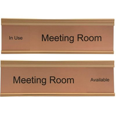 Slider Sign for Meeting Rooms in Copper - Nap Nameplates