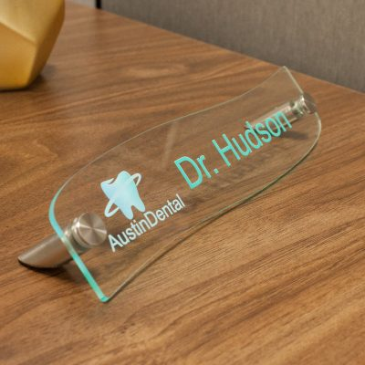 Designer Acrylic Desktop Signs for Offices - Nap Nameplates