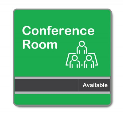 Large Custom Conference Room Sliding Signs with Graphics, Logos and more - Napnameplates.com