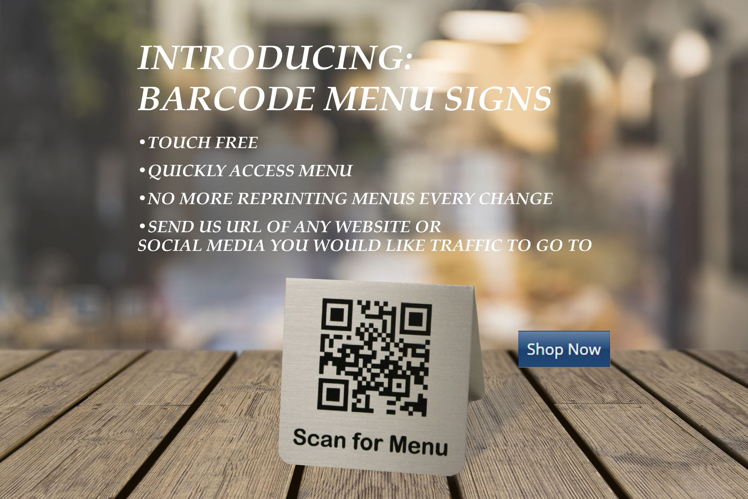 barcode menu